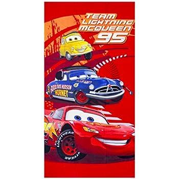 70x 140 cm G/én/érique Serviette de Plage Disney Cars McQueen en Rouge ER4236