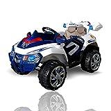 Actionbikes Motors Elektro Kinderauto Jeep 8188 mit 2 x 35 Watt Motor Elektro Kinderauto Kinderfahrzeug in mehreren Farben (blau/weiß)