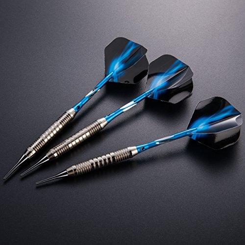 Preisvergleich Produktbild Dartpfeile soft dartpfeile 3 Stück 18 g Dartset Turnier soft Tip Dartpfeile Set,  (Soft Dartpfeile) mit Flights (Blitz)