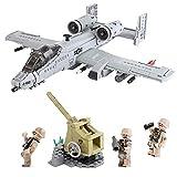 Yyz Militärserie Kreatives Militär durch die Schlachtfeldserie A10-Kämpfer, die montiert wurden, um Blöcke mit kleinen Partikeln Spielzeug-Geburtstagsgeschenk einzusetzen