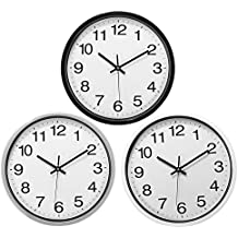 Rishil World 12 Inch Silent Sweep Non-Ticking Wall Clock For Office Home Fashion Decor