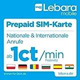 Lebara-Mobile Pre-Paid SIM-map with 10 Guthaben - (7,50 Startguthaben + 2,50 Bonus for the erste Aufladung) over T-Mobile Netz
