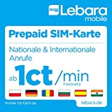 Lebara Prepaid-SIM-Karte mit 10 Euro Startguthaben gebraucht kaufen  Wird an jeden Ort in Deutschland