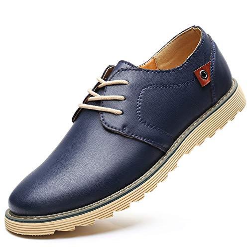 Herren Sneakers aus weichem Leder Schnür Schuhe große Größe lässige Urbane Verschleißschutz Schuhe