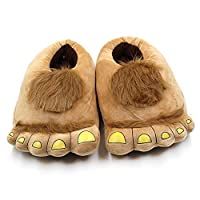Skyoo Funny Animal Paw Unisex Slippers Women Cute Monster Claw Slippers Cartoon Soft Plush Warm Home Slippers