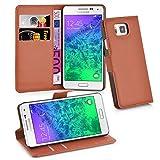 Cadorabo Coque pour Samsung Galaxy ALPHA , NOISETTE MARRON Fermoire...