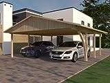 Carport Satteldach MONTE CARLO VII 600x600cm KVH mit 1 Leimholzbogen Bausatz