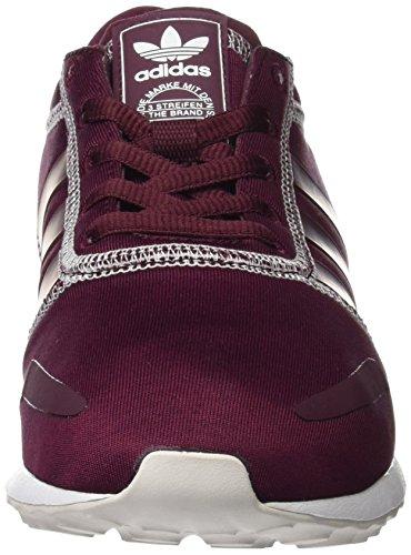 adidas Damen Los Angeles W Sneaker Braun (Maroon/Maroon/Footwear White)