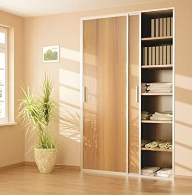 Sliding Wardrobe 2 Door 1800mm Twin Track Gear System ARES 2 Roller Internal Cupboard 70kg - low-cost UK wordrobe store.