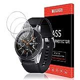 MASCHERI Protector de Pantalla para Samsung Galaxy Watch 46mm, [3 Unidades] Cristal Transparente Templado SmartWatch con garantía de reemplazo de por Vida