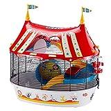 Ferplast Circus Fun Cage à 3 Étages Plastique Robuste et Métal, Ashésifs Colorés...
