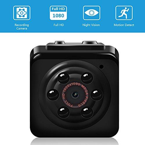 Mini Cam Kamera Vaxiuja Full HD Tragbare Kleine Nanny Cam mit Nachtsichtgerät für Zuhause / Büro / Garten / Garage / Indoor / Outdoor Sicherheit Kamera