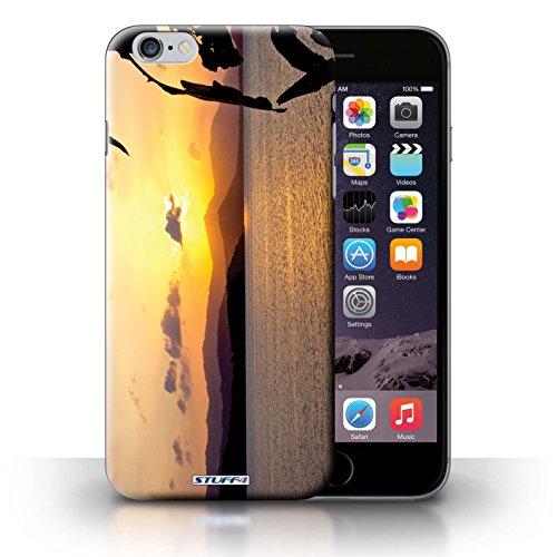 Kobalt® Imprimé Etui / Coque pour iPhone 6+/Plus 5.5 / bateaux conception / Série Coucher du Soleil Chaîne de montagne