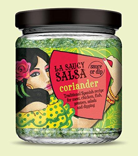 LA-SAUCY-SALSA-Salsa-Tradicional-Andaluz-Cilantro-para-el-Pan-Carne-Pescado-Ensaladas-Producto-Vegano-170-gr