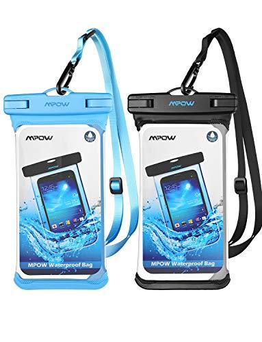 Mpow Einteilig IPX8 wasserdichte Handyhülle, Einteilige Universale Trockentasche iPhone 11/iPhone X/XR/XS MAX Handytasche, Volltransparente Hülle für Galaxy S10 / S9,P30 / P20 bis 6, 5 Zoll