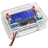 DROK® DC-DC Buck Converter regolatore di tensione con trasparente Shell, 5-23V per 0-16.5V scendere registrabile del convertitore di tensione stabilizzatore, modulo di alimentazione con STN LCD display del voltmetro