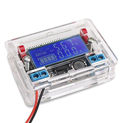 drokr-dc-dc-buck-converter-voltage-regulator-with-transparent-shell-5-23v-to-0-165v-adjustable-step-
