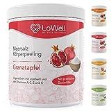 LoWell - Peeling Meersalz mit Jojobaöl + BONUS Dosierhilfe + Peeling-Guide - Natürliches...
