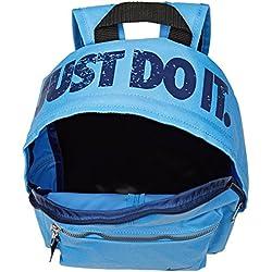 Nike Classic Mochila niño, Niño, BA4606-412, University Blue/Black/Binary Blue, 33 cm x 25.5 x 10 cm