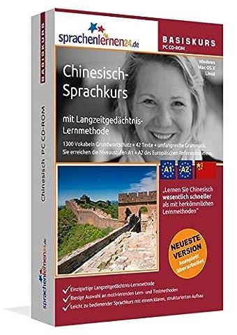 Chinesisch-Basiskurs mit Langzeitgedächtnis-Lernmethode von Sprachenlernen24.de: Lernstufen A1 + A2. Chinesisch lernen für Anfänger. Sprachkurs PC CD-ROM für Windows 8,7,Vista,XP / Linux / Mac OS X