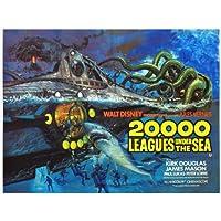 20,000 Leagues Under the Sea Poster Movie B 11 x 14 In - 28cm x 36cm James Mason Kirk Douglas Peter Lorre Paul Lukas Robert J. Wilke Carleton Young
