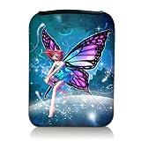 Luxburg® Design Tasche Hülle Sleeve Etui für eBook Reader und Tablet PC bis 7 Zoll, Motiv: Fee