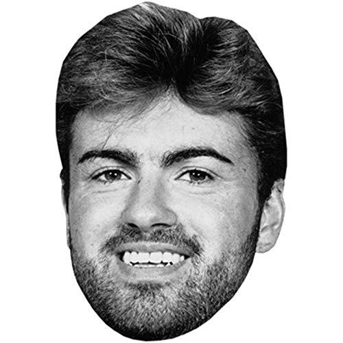 Celebrity Cutouts George Michael (B&W) Big Head.