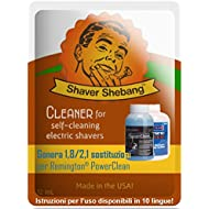 Equivalentes a 12,6/14,7 botellas de Remington PowerClean CC100/CC100A et CCR-REM- Menta eléctrica - 7 soluciones limpiadoras Shaver Shebang -