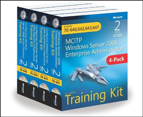 Preisvergleich Produktbild MCITP Windows Server 2008 Enterprise Administrator: Training Kit 4-Pack: Exams 70-640,  70-642
