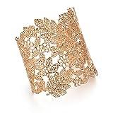 Shining Diva Fashion Gold Plated Kada Bangle Cuff Bracelet for Women & Girls(Golden)(9253b)