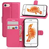 France-Technology Coque iPhone X, Etui de Protection avec Fonction Stand (Tenir Debout), Portefeuille Range-Cartes, Housse iPhone X - Rose