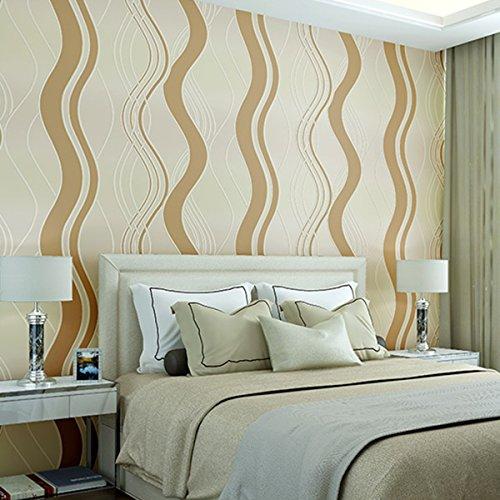 Dick Wildleder Fransen Wave Curve Geprägt Vliestapete Modern Minimalist  Schlafzimmer Wohnzimmer Video Tapete, Wallpaper Only