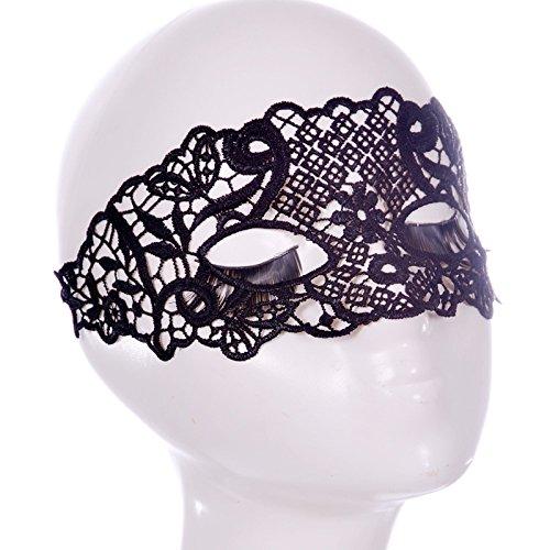 MONWSE Halloween Masken Sexy Spitze Maske Partei Maskerade Ball Masker Karneval Cosplay Catwoman Ausschnitt Eye Mascara Mysterious Masque Prop