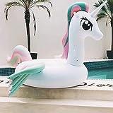 DONGLIAN Sports Nautiques Rangée Flottante De Monture De Licorne D'aile Colorée Pony A Augmenté l'anneau De Bain De Lit Flottant Gonflable Épais