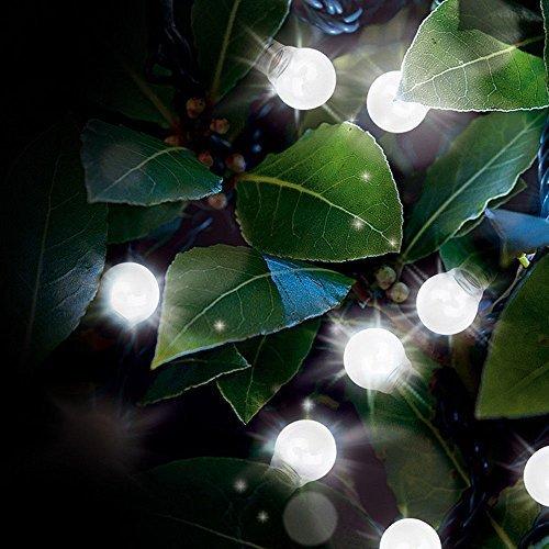 Garten Mile 10x Solar Glühbirne Schnur Lichter Warmes Weiß LED klar mit 2 Modi Mehrzweck Verwendung umweltfreundlich Wasserdicht Outdoor energiebetrieben Kugel Fee Orb Laterne Ambiant Beleuchtung