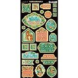 Graphic 45Voyage Sous les mer Chipboard Die-Cuts 15cm sheet-decorative, Autres, multicolore 30,5x 30,5cm
