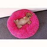 Pet Nest Zwinger weiß Schnee Deep Sleep Katzenstreu Herbst und Winter Zwinger Hundematte - Rose Pink-70 * 20cm
