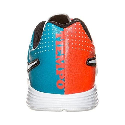 Nike Jr. Tiempo Genio IC Unisex-Kinder Fußballschuhe neo turquoise-white-hyper crimson-black