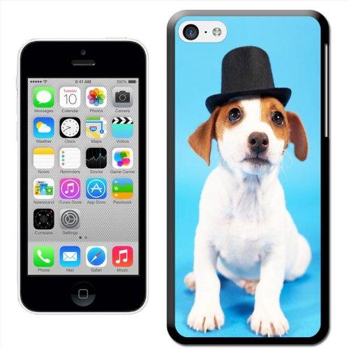 Chien–Beagle Coque arrière rigide détachable pour Apple iPhone modèles, plastique, Wearing Top Hat With Big Eyes, iPhone 5C Wearing Top Hat With Big Eyes