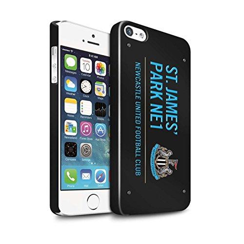 Offiziell Newcastle United FC Hülle / Glanz Snap-On Case für Apple iPhone 5/5S / Pack 6pcs Muster / St James Park Zeichen Kollektion Schwarz/Blau