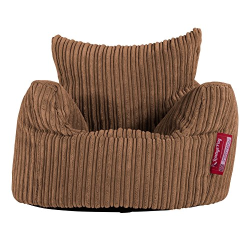 LOUNGE PUG, Kindersessel Sitzsack, Sitzsack Kinder, Cord Türkis