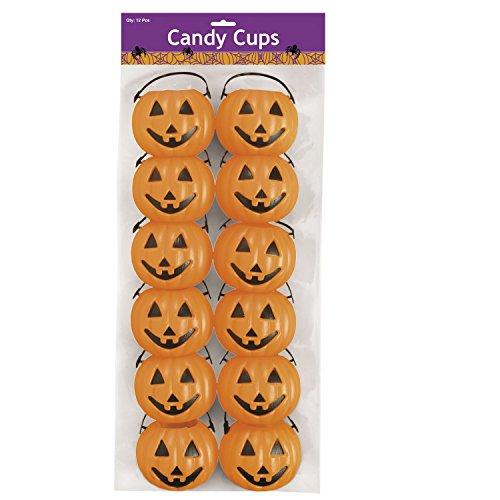 Kürbis Kessel für Süßigkeiten Schale 12 Stück Palandi® ()
