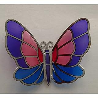 acever Kühlschrank Magnet Memo Pad Art Glass Tiffany, zufällig ausgewählten handbemalt Schmetterling (tl-08)