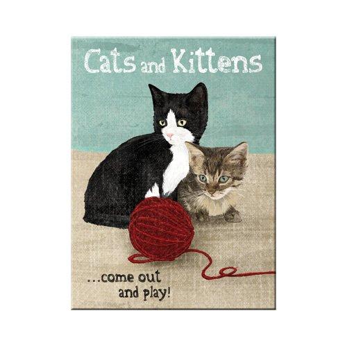 Nostalgic-art 14242Animal Club Cats and Kittens, calamita, 8x 6cm