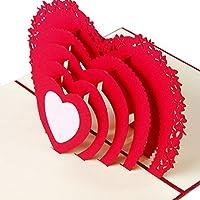 Baoyl 3D Pop Up Card Heart To Heart Anniversary Valentine Birthday Thank You Christmas …