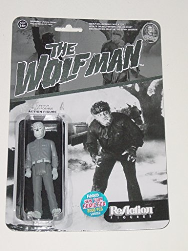 OLFMAN Universal Monsters 3.75 inch Action Figure 2015 NYCC Black & White Exclusive 1 of 2000 [New York Comic Con] Wolf Man ()
