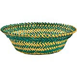 RAJKRUTI Handicraft Wooden Bamboo Hand Made Flower / Fruit Basket (23 Cm X 23 Cm X 7 Cm)