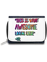 I'm Awesome Monedero de Cremallera Bolso Zipper Wallet| The Stylish Pouch To Keep Everything Organized| Ideal For Everyday Use & Traveling| Authentic Accessories By Hamerson