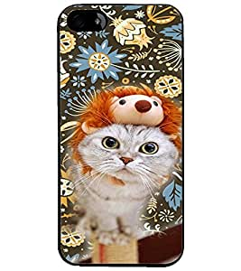 PrintDhaba Kitty D-4657 Back Case Cover for APPLE IPHONE 4 (Multi-Coloured)