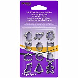 Premo Mini Metal Cutters 12/Pkg-Holiday